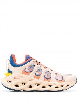 Кроссовки на шнуровке Li-Ning. Цвет: синий
