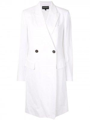 Двубортное пальто Ann Demeulemeester. Цвет: белый