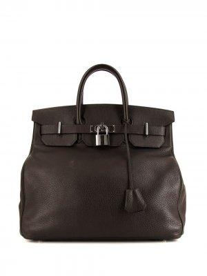 Дорожная сумка Haut à Courroies pre-owned 2003-го года Hermès. Цвет: коричневый