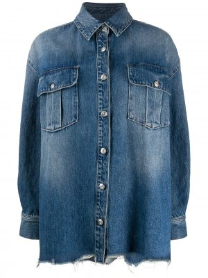 Джинсовая рубашка Lisa 3x1. Цвет: синий