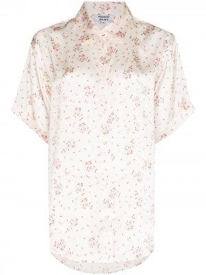 Пижамная рубашка с цветочным принтом Frankies Bikinis. Цвет: розовый