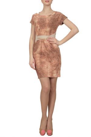 Платье Lamiavita. Цвет: бежевый
