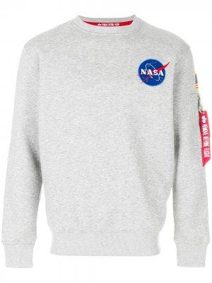 Толстовка NASA Alpha Industries. Цвет: серый