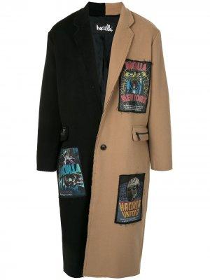 Пальто в двух тонах Haculla. Цвет: черный