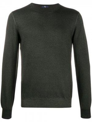 Пуловер с круглым вырезом Fay. Цвет: зеленый