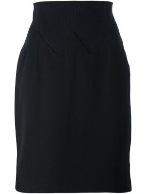 Юбка до колена Jean Paul Gaultier Pre-Owned. Цвет: черный