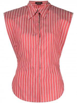 Полосатая рубашка без рукавов Isabel Marant. Цвет: красный