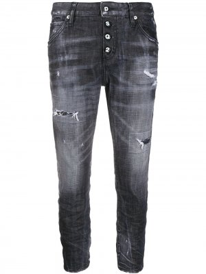 Укороченные джинсы Cool Girl Dsquared2. Цвет: черный