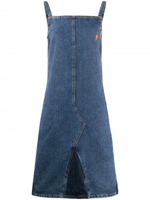 Джинсовое платье 1990-х годов Walter Van Beirendonck Pre-Owned. Цвет: синий