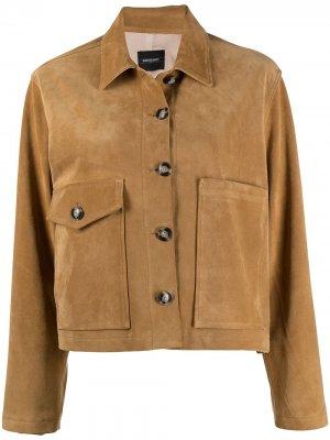 Укороченная куртка Jane Simonetta Ravizza. Цвет: коричневый