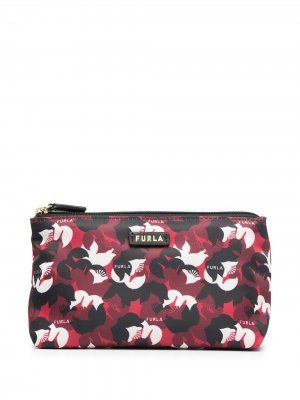 Косметичка с логотипом Furla. Цвет: красный