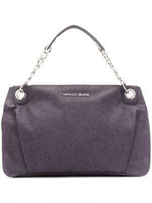 Большая сумка на плечо Armani Jeans. Цвет: фиолетовый