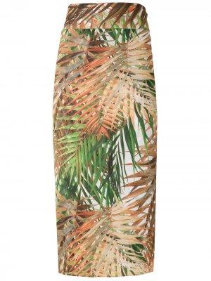 Пляжная юбка Orixa с принтом Lygia & Nanny. Цвет: разноцветный