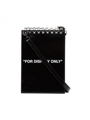Сумка в виде блокнота для записей Off-White. Цвет: черный