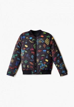 Куртка утепленная Marcelo Burlon Kids of Milan. Цвет: черный