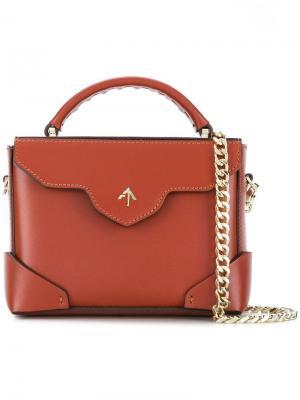 Микро-сумка через плечо Bold Manu Atelier. Цвет: коричневый