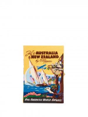 Клатч Voyage Australia & New Zealand Olympia Le-Tan. Цвет: желтый