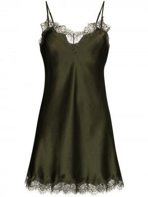 Ночная сорочка с кружевом Sainted Sisters. Цвет: зеленый
