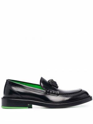 La Medusa leather loafers Versace. Цвет: черный