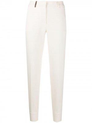 Трикотажные брюки строгого кроя Peserico. Цвет: нейтральные цвета