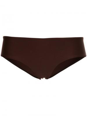 Трусы от купальника Boy Leg Matteau. Цвет: коричневый