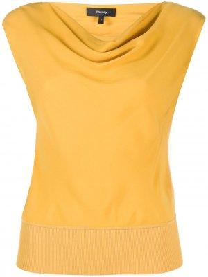 Блузка с вырезом-лодочкой Theory. Цвет: желтый