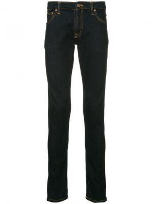 Джинсы облегающие Nudie Jeans. Цвет: синий