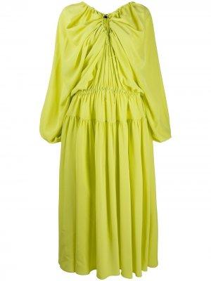 Платье с кулиской Rochas. Цвет: желтый