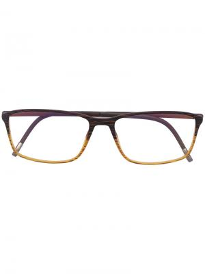 Очки с квадратной оправой Silhouette. Цвет: коричневый