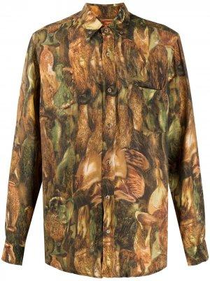 Рубашка Kaleb с длинными рукавами Nanushka. Цвет: зеленый