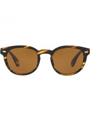 Солнцезащитные очки Sheldrake в круглой оправе Oliver Peoples. Цвет: коричневый