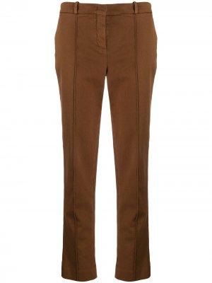 Укороченные брюки кроя слим Loro Piana. Цвет: коричневый
