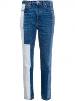 Зауженные джинсы с контрастными вставками Heron Preston. Цвет: синий