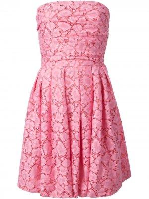 Платье без бретелек Moschino Cheap & Chic. Цвет: розовый